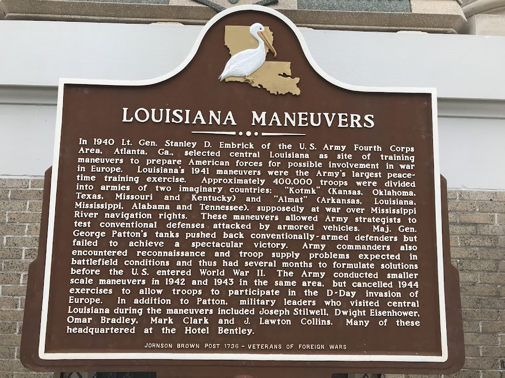 In 1940 Lt. Gen. Stanley D. Embrick of the U.S. Army Fourth Corps Area, Atlanta, Ga., selected central Louisiana as site of training maneuvers to prepare American forces for possible involvement in ...
