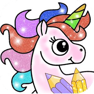 Glitter Unicorn Coloring Book - Rainbow Drawing For PC / Windows 7/8/10 / Mac – Free Download