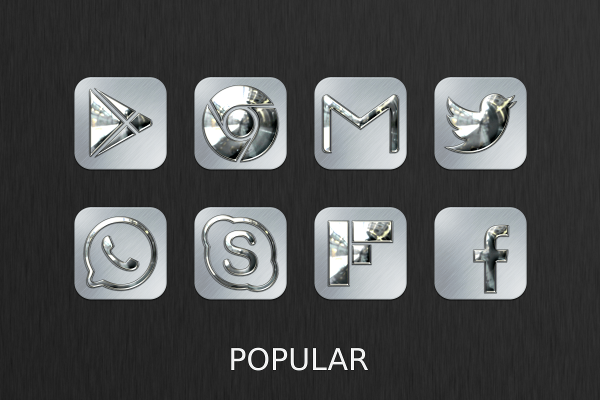Silver Chrome Icon Pack Screenshot 5