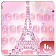 Pink Diamond Eiffel Keyboard Theme