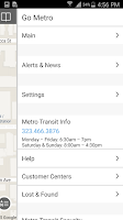 Screenshot of Go Metro Los Angeles