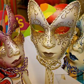 Carnival masks. by Peter DiMarco - Artistic Objects Other Objects ( art, artistic, mask, artistic objects, artwork )