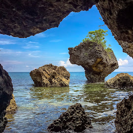 From The Cave by Geoffrey Wols - Landscapes Caves & Formations ( cave, rocks, islands, philippines, water,  )