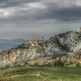 by Mario Horvat - Instagram & Mobile iPhone ( touristic, italia, village, san leo, castle, rock, travel, iphone, italy )