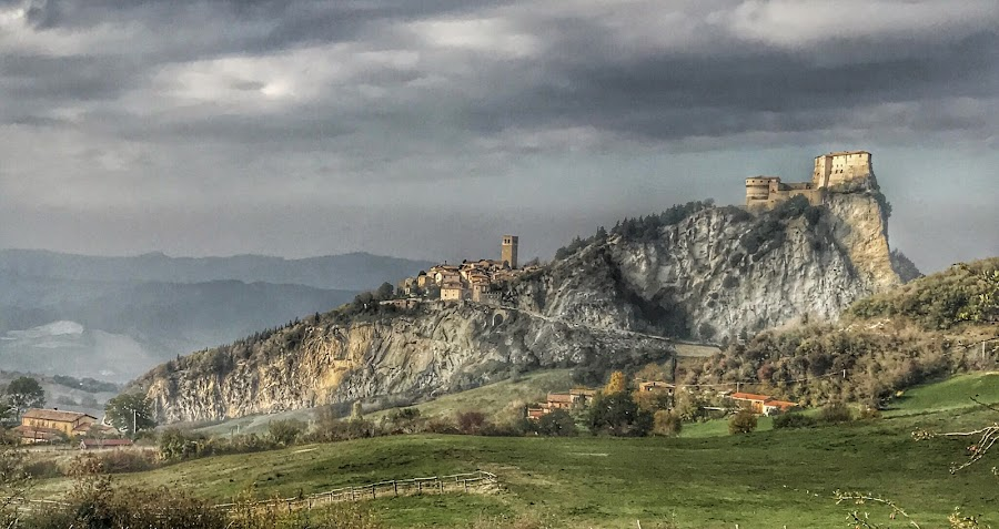 by Mario Horvat - Instagram & Mobile iPhone ( touristic, italia, village, san leo, castle, rock, travel, iphone, italy )