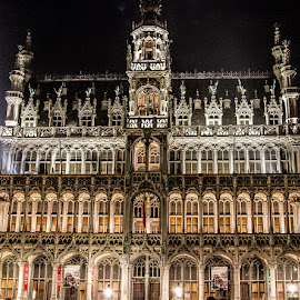 Grand Place by Dmitriy Andreyev - Buildings & Architecture Public & Historical ( grand place, night, belgium, brussels )