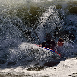 The Wedge Surfer by Jose Matutina - Sports & Fitness Surfing ( orange county, surfer, california, newport beach, the wedge )