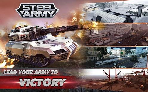 Siêu Phẩm Hack Steel Army: 3D Tank War - Online Tank Battle Miễn Phí