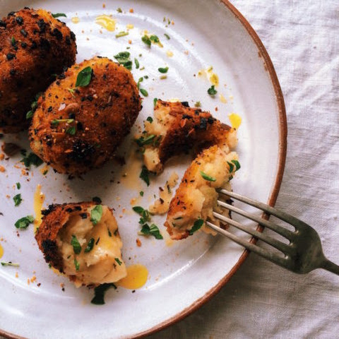 Potato Croquettes with Chihuahua Cheese