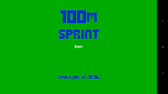 sprint 100m - screenshot