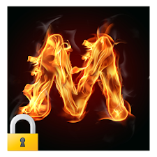 Burning Letter M Lock