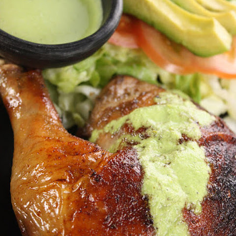 Peruvian Roasted Chicken with Aji Verde