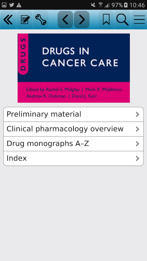 Drugs in Cancer Care Screenshot
