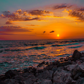 by Venelin Dimitrov - Landscapes Sunsets & Sunrises ( outdoor scenery, sea water, sky, the sun, sunrise,  )