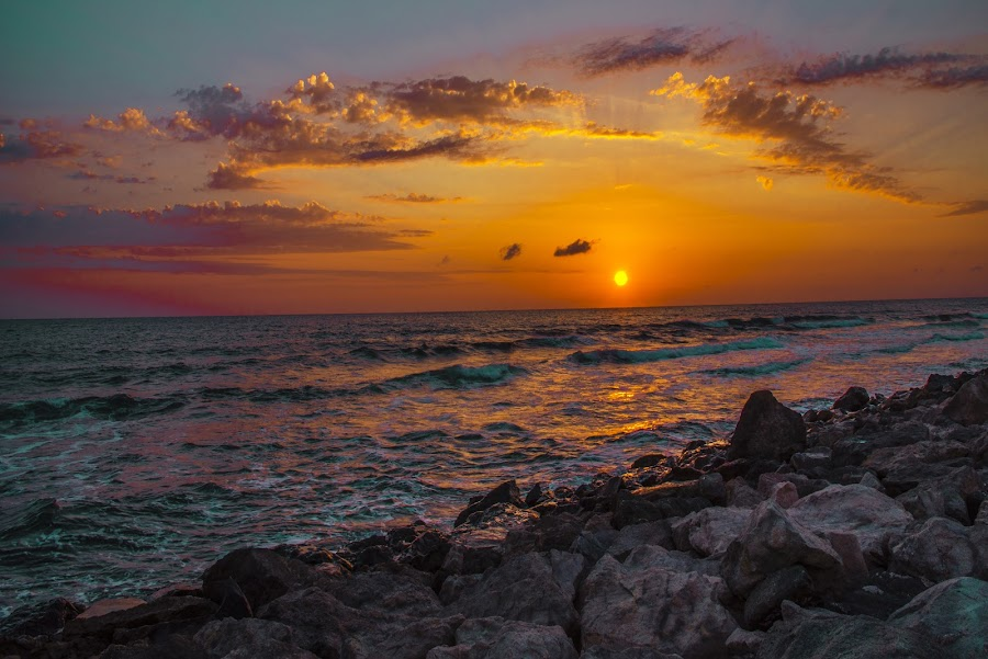 by Venelin Dimitrov - Landscapes Sunsets & Sunrises ( outdoor scenery, sea water, sky, the sun, sunrise )