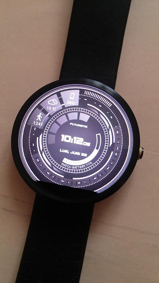 Futuristic GUI Watch Face Screenshot 4