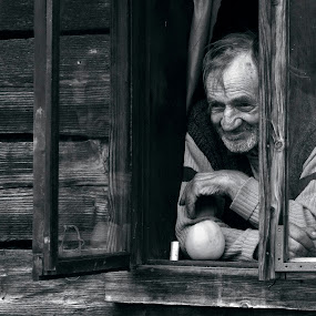 the old man had an apple by Cristina Gusatu - People High School Seniors