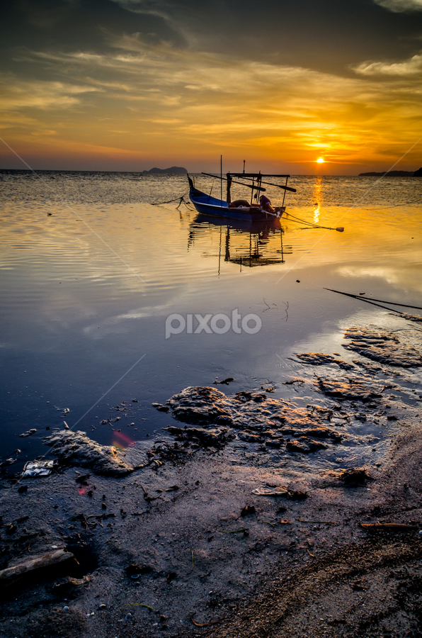 Sunset,Permatang Damar Laut. by Mohamad Subri Mohd Noor - Landscapes Sunsets & Sunrises