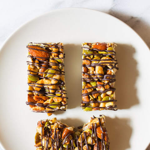 Paleo Nut Bar Recipe with Chocolate Drizzle