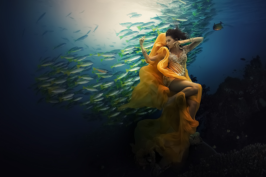 Annie Underwater 2 by O'onk Madourart - People Fashion ( staff favorites )