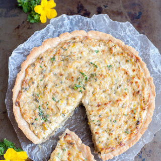 Leeks and Goat Cheese Tart