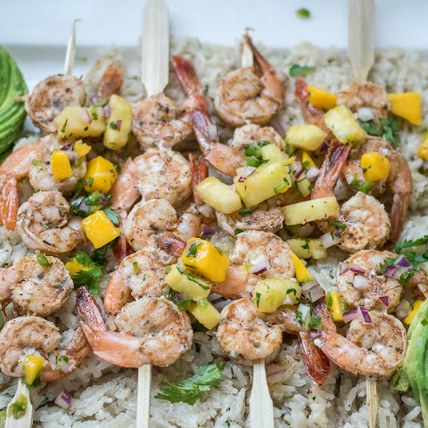 Jamaican Jerk Shrimp with Pineapple Mango Salsa