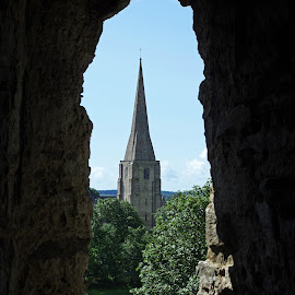 View from Kidwelly Castle by Ingrid Anderson-Riley - Buildings & Architecture Public & Historical