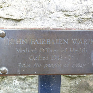 John Fairbairn Warin Medical Officer of Health Oxford 1948 - 74 From the people of Iffley This plaque is originally from OpenBenches and is imported with their permission The image and text is ...