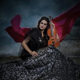 violinist by Ka Seng - Digital Art People