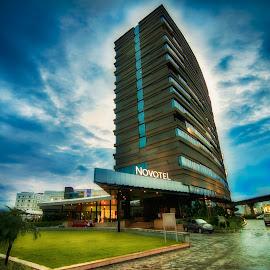 Novotel_Kolkata by Saikat Dhar - Buildings & Architecture Office Buildings & Hotels ( dynamic sky, hdr, kolkata, cloudscape, hotels )
