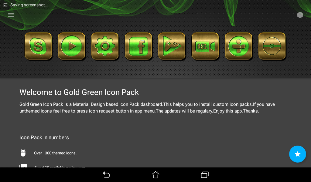 Gold Green Icon Pack Screenshot 9