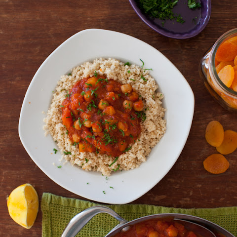 Rustic Chickpea Stew with Apricots & Turnip {slow-cooker recipe}