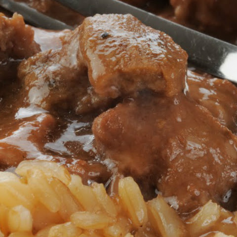 Beef Tips with Gravy and Brown Rice