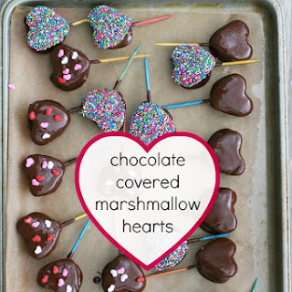 Chocolate-Covered Marshmallow Hearts