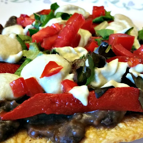 Black Bean Tostadas & Green Chile Sour Cream