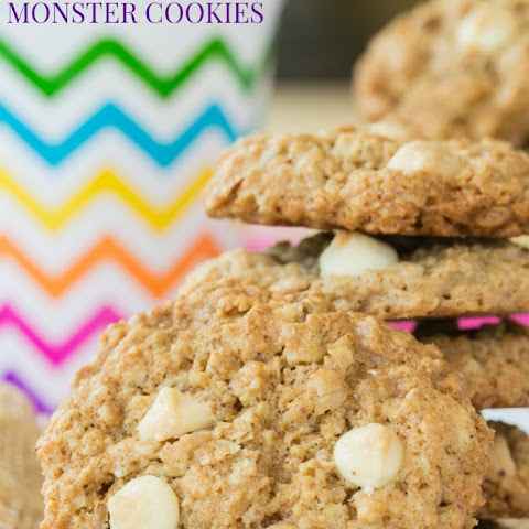 Toffee Almond White Chocolate Chip Monster Cookies