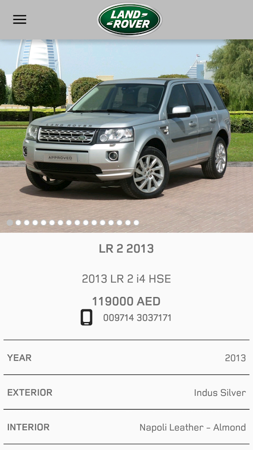 LAND ROVER APPROVED CARS MENA Screenshot 4