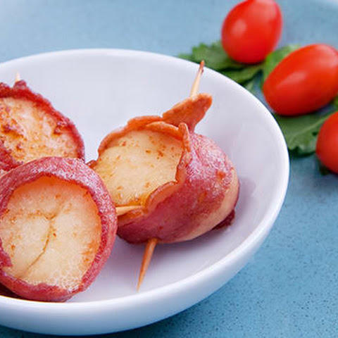 Turkey Bacon Wrapped Scallops