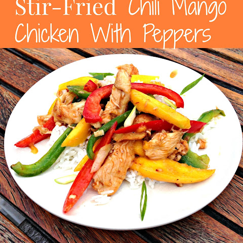 Easy Stir-Fried Chili Mango Chicken With Peppers (Gluten Free)