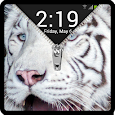 Zipper Lock Screen White Tiger