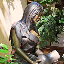 Hopi Water Maiden by Nancy Young - Artistic Objects Other Objects ( bronze, sculpture, statue, indian, artistic object,  )