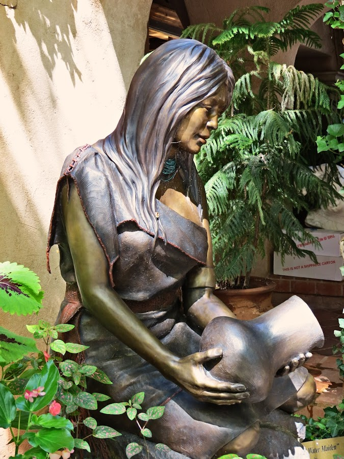 Hopi Water Maiden by Nancy Young - Artistic Objects Other Objects ( bronze, sculpture, statue, indian, artistic object )