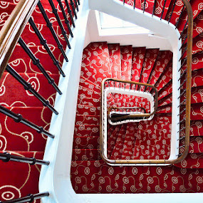 Red Carpet Spiral by Frederic Rivollier - Buildings & Architecture Other Interior ( stair )