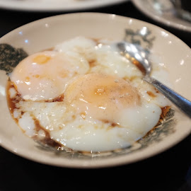 Half Boiled Egg by Beh Heng Long - Food & Drink Plated Food ( malaysian food )
