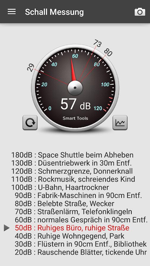 Schallmessung : Sound Meter – Screenshot
