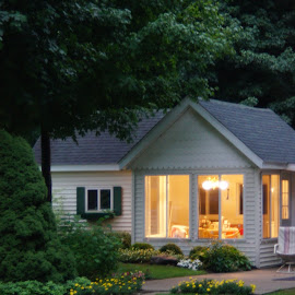 Home is where the heart is by Amber O'Hara - Buildings & Architecture Homes ( lights, michigan, green, windows, flowers, play house )