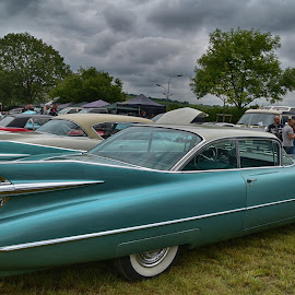 American Car Show by Marco Bertamé - Transportation Automobiles ( car, oltimer, vintage, american, green, cloudy, us, curves )