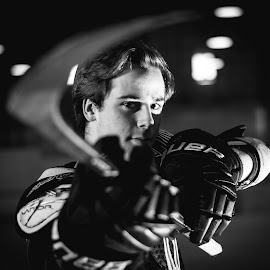 Future by Amanda Gundrum - Sports & Fitness Ice hockey ( composed, hockey, stick, pads, equipment, gloves )