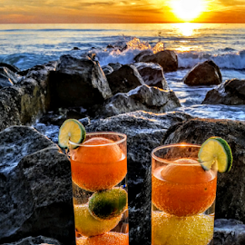 { Tropical Drinks ~ On The Rocks }  by Jeffrey Lee - Food & Drink Fruits & Vegetables ( { tropical drinks ~ on the rocks } )