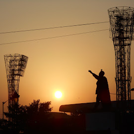 THE LIGHT by Souvik Majumdar - City,  Street & Park  Skylines ( kolkata, eden garden, light, sun, city,  )